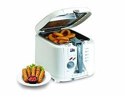 Elite Cuisine EDF-888XT Maxi-Matic 8 Cup Cool Touch Deep Fryer, White