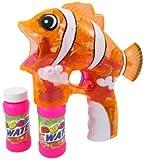 Cartoon Fish Bubble Gun- Led Clownfish Bubble Blaster (Assorted Colors)