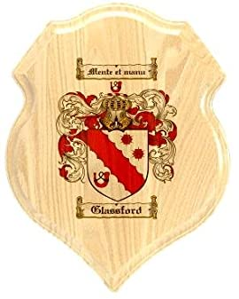 Glassford Coat of Arms Plaque / Family Crest Plaque