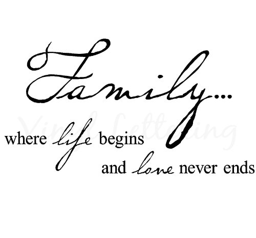 Family where life begins and love never ends 12.5