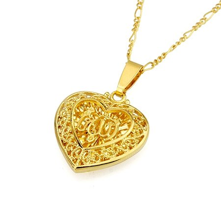 Allah lovers jewelry buy allah lovers jewelry products online in allah gold name heart shaped pendant necklace gold tone islamic muslim jewelry aloadofball Choice Image