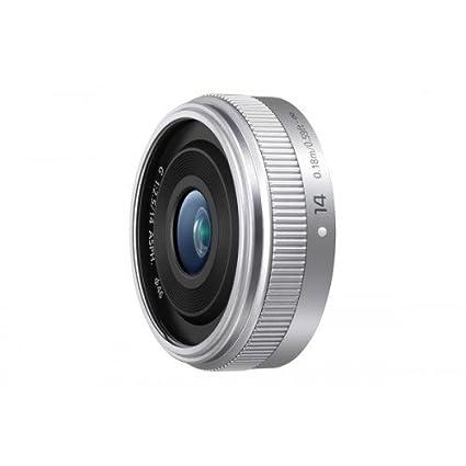 H-H014AE Panasonic Micro Four Thirds 14 mm Longueur focale Objectif Argent