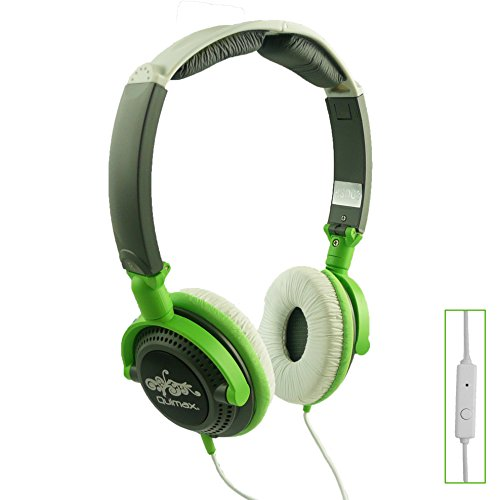 Qulmax ® Mediacom SmartPad 10.1 HD iPro111 / Mediacom SmartPad i10 3G Tablet Grün Faltbare Rotating HD Kopfhörer (HSQ09) mit Mikrofon und Fernbedienung