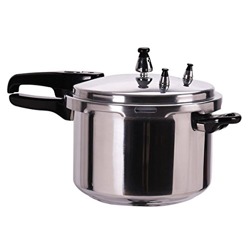 New 6-Quart Aluminum Pressure Cooker Fast Cooker Canner Pot Kitchen (High Pressure Pan compare prices)