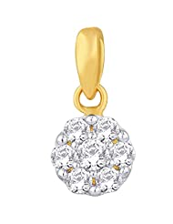 Nakshatra 18k Yellow Gold Diamond Pendant - B00NW685B0
