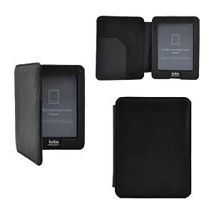 Premium étui en cuir housse coque fermeture magnétique pour KOBO eReader Mini Edition - Couleur Noir
