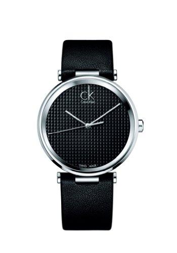 Calvin Klein  K1S21102 - Reloj de cuarzo para hombre, con correa de cuero, color negro