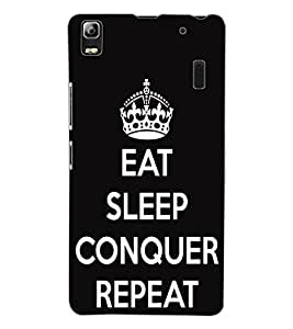 ColourCraft Quote Design Back Case Cover for LENOVO K3 NOTE