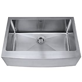 Kraus 30 inches Farmhouse Apron Single Bowl 16 gauge Stainless Steel Kitchen Sink