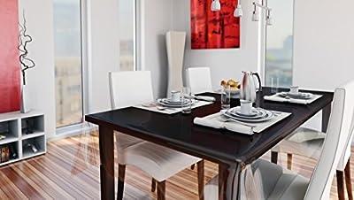 Transparente Folie Breite 130 cm Dicke und Länge wählbar - Lebensmittelecht abwaschbare Tischdecke Lebensmittelecht Folie Main von DHT-Folien - Gartenmöbel von Du und Dein Garten