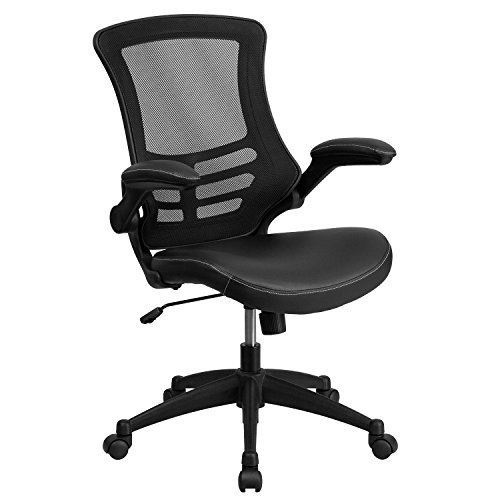 flash-furniture-bl-x-5m-lea-gg-mid-back-mesh-chair-with-leather-seat-and-nylon-base-black-set-of-2