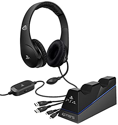 Playstation 4 Officially Licensed Stereo Gaming Headset Starter Kit (PS4) from 4Gamers