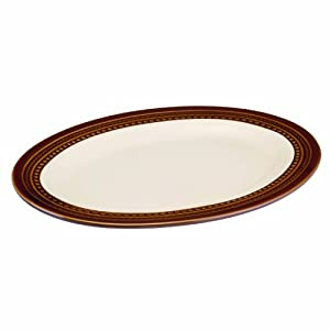 Paula Deen Signature Dinnerware Southern Gathering 10-Inch by 14-Inch Oval Platter