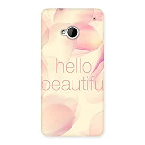 Cute Hello Beautiful Multicolor Back Case Cover for HTC One M7