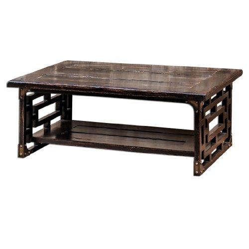 Distressed Wood Deron 48W Mango Wood Coffee Table 25600