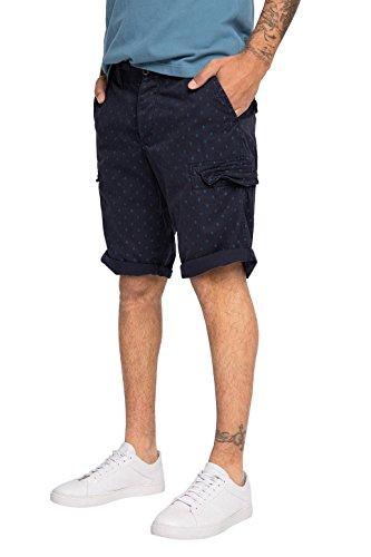 edc by Esprit Mini Aop Bermu-Shorts Uomo    Blu (Navy) XX-Large