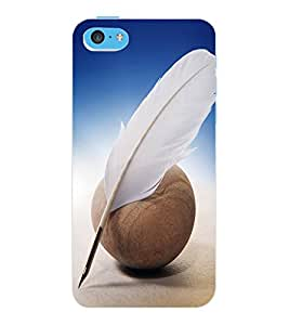 ColourCraft Feather Design Back Case Cover for APPLE IPHONE 5C