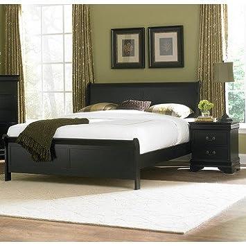 Homelegance Marianne 2 Piece Panel Bedroom Set in Black