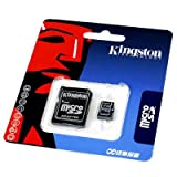 2GB Kingston Micro SD Memory Card + SD Adapter Brand new
