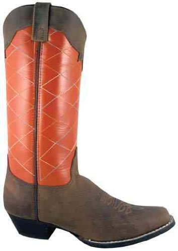 Smoky Mountain 6548 Women's Tucson Boot Crazy Horse/Burnt Orange