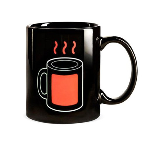 Coffee Mug With Red Color Thermo Indicator