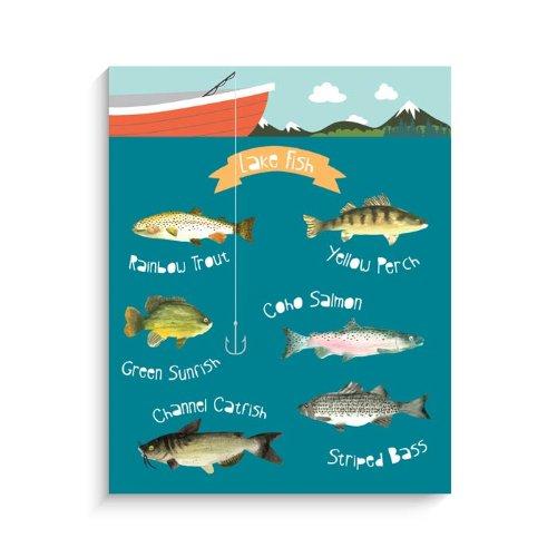"Lucy Darling Lake Fish Wall Decor, 8"" x 10"" - 1"