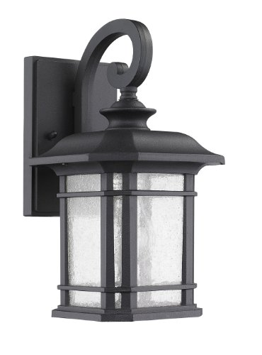 """Chloe Lighting CH22021BK13-OD1 """"Franklin"""" Transitional 1-Light Black Outdoor Wall Sconce 12.75″ Height image"""