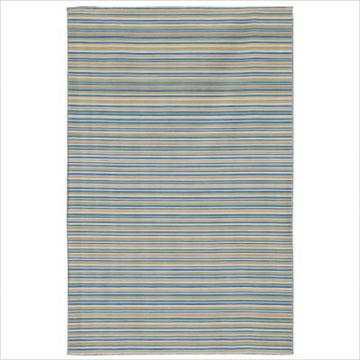 Coastal Living Dhurries Malibu Pastel Blue Contemporary Rug Size: 4' x 6'