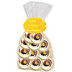 BakeryAnyWhere 12pack Thanksgiving Turkey Holiday Birthday Party Favor Edible Photo Cookies