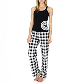 Checkered Knit Pant Pajama Set