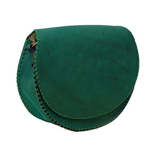 Genuine Borsa in pelle verde Handcrafted borsa spalla della cartella della borsa del messaggero