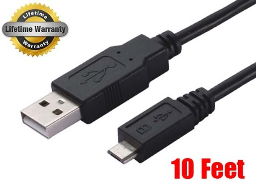 iMBAPrice® 10 Feet Long USB 2.0 to Micro-USB Charger Transfer Cable For Nokia Lumia 1020 (Lumia 920/25/626/710/720/800/810/820/822/920/928/1320) - Black (Ca 25 compare prices)