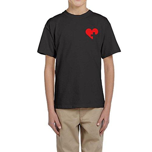 Heart Medical Cross Man Contrast T-shirt