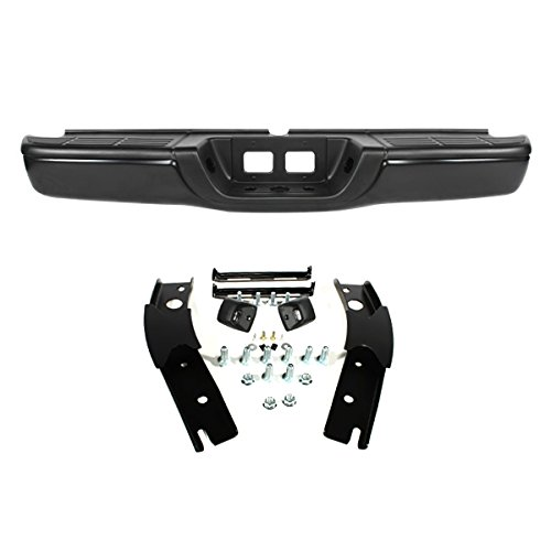CarPartsDepot 00-06 TY TUNDRA - REAR STEP BUMPER W/BRACKET- BLACK (Toyota Tundra Black Bumpers compare prices)