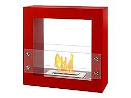Ignis Ventless Bio Ethanol Fireplace Tectum Mini Red