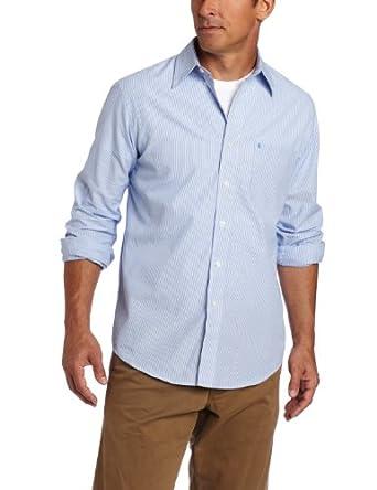 IZOD Men's Big-Tall Long Sleeve Essential Check Button-Down Shirt, American Dream, 2X-Large/Tall