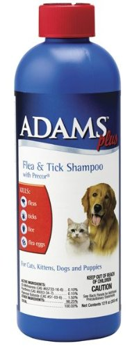 Adams Plus Flea & Tick Shampoo with IGR for Cats and Dogs, 12 oz