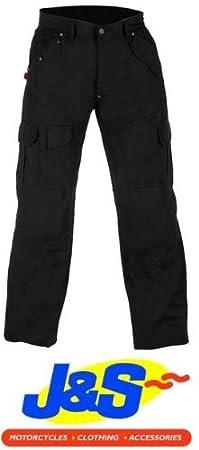 Rouge Route red007Denim Cargo Kevlar Moto Jeans pantalon Homme Noir J & S