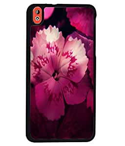 Fuson 2D Printed Flower Designer back case cover for HTC Desire 816 - D4496