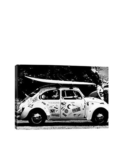 Retro Images Vintage VW Bug Ready To Surf Archive Gallery-Wrapped Canvas Print