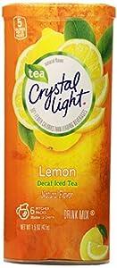Crystal Light Lemon Decaf Iced Tea Natural Flavor Drink Mix, 12-Quart Canister (Pack of 6)