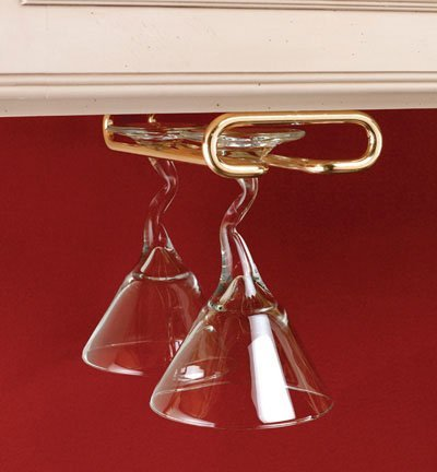 Rev-A-Shelf RS3150.11BR 11 ft. D Single Stemware Rack-Brass