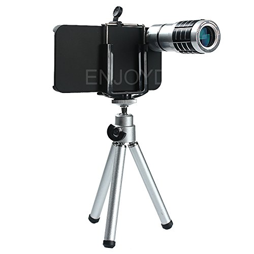 Enjoydeal Tenfold Telescope For Phone Lens Mobile Phone Telephoto Lens With Support Mount