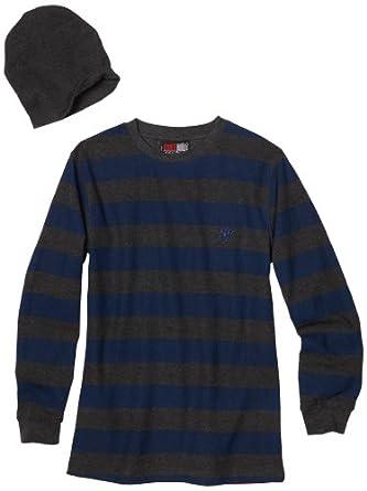 Southpole - Kids Big Boys' Stripe Thermal Shirt, Royal, Medium
