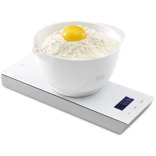 JACOB jENSEN balance de cuisine avec minuteur - 32052-blanc, 1 g jusqu'à 5 kg