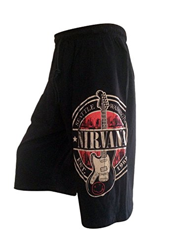 Hot Rock Nirvana Est 1988 Guitar Stamp Seal Rock Music Mens Board Shorts Free Size (Advance Nutrients Nirvana compare prices)
