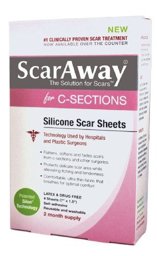 scaraway-c-section-scar-treatment-strips-silicone-adhesive-soft-fabric-4-sheets-7-x-15-inch