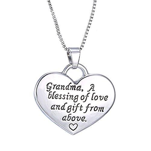 Grandma Heart Pendant Necklace -