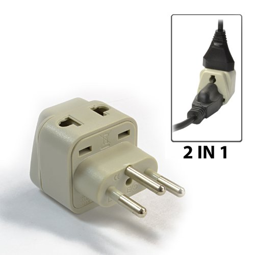 Orei Wp-J-Gn Orei Grounded Universal 2 In 1 Plug Adapter Type J For Switzerland, High Quality, Ce Certified Rohs Compliant