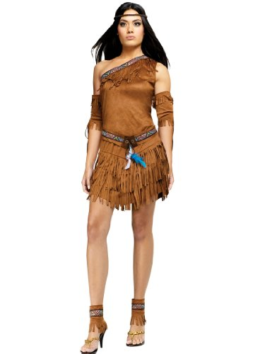 Native American Indian Costume Asymentrical Dress Womens Theatrical Costume